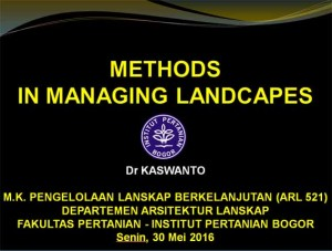 Methods in Managing Landscapes