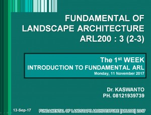 Fundamentals of LANDSCAPE ARCHITECTURE