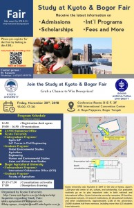 Study at Kyoto and Bogor Fair
