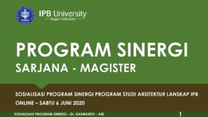 Program Sinergi S2 ARL IPB